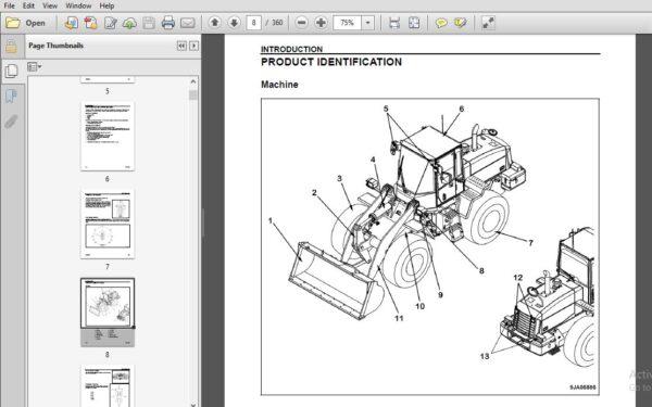 Komatsu WA250-6 Wheel Loader Operation & Maintenance