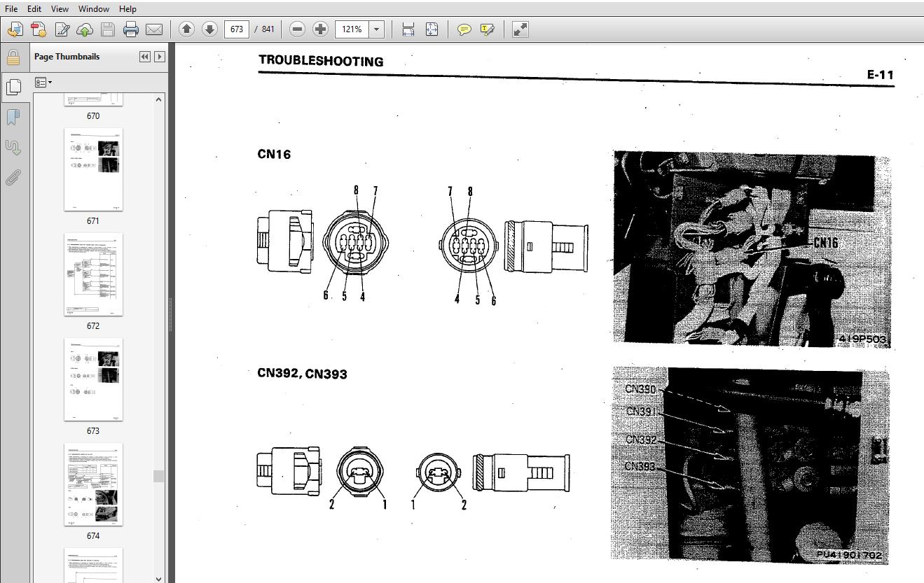Komatsu WA300-1, WA320-1 Wheel Loader Shop Manual 10001