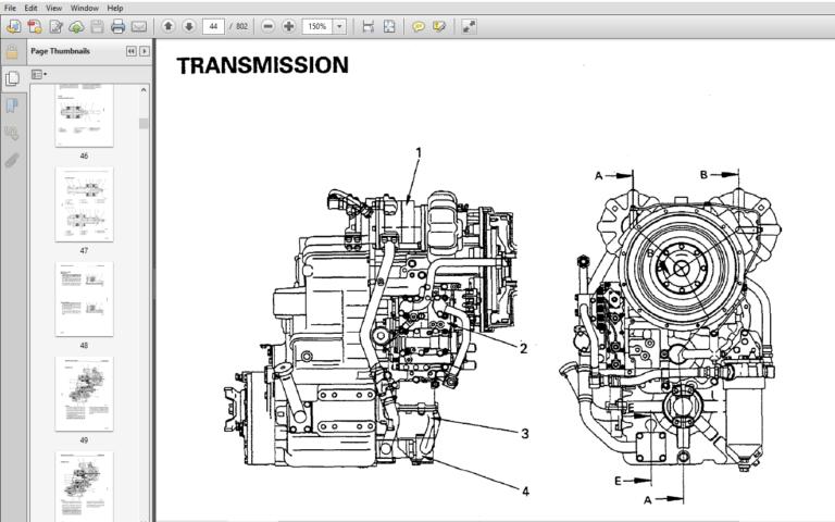 Komatsu WA380-3 Avance Loader Wheel Loader Shop Manual