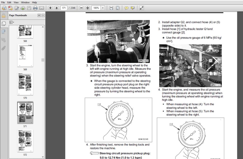 Komatsu WA470-7 Wheel Loader Shop Manual A47001 and up