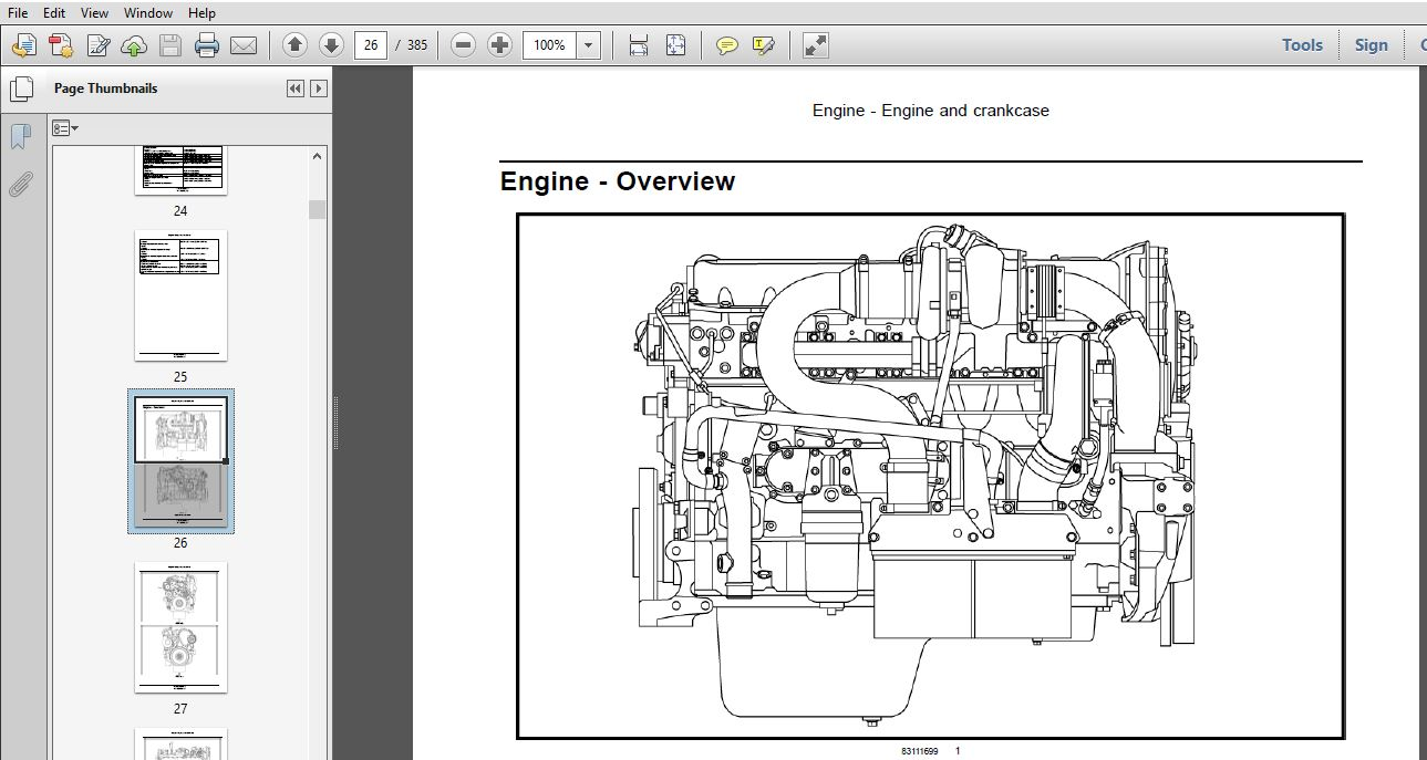 Case Engine CNH CURSOR 13 Tier 4B Final Stage IVB Service