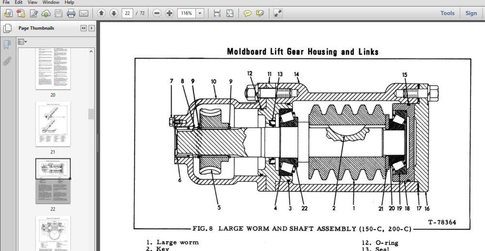 Fiat Allis 100-c 150-c 200-c Motor Graders Service Manual