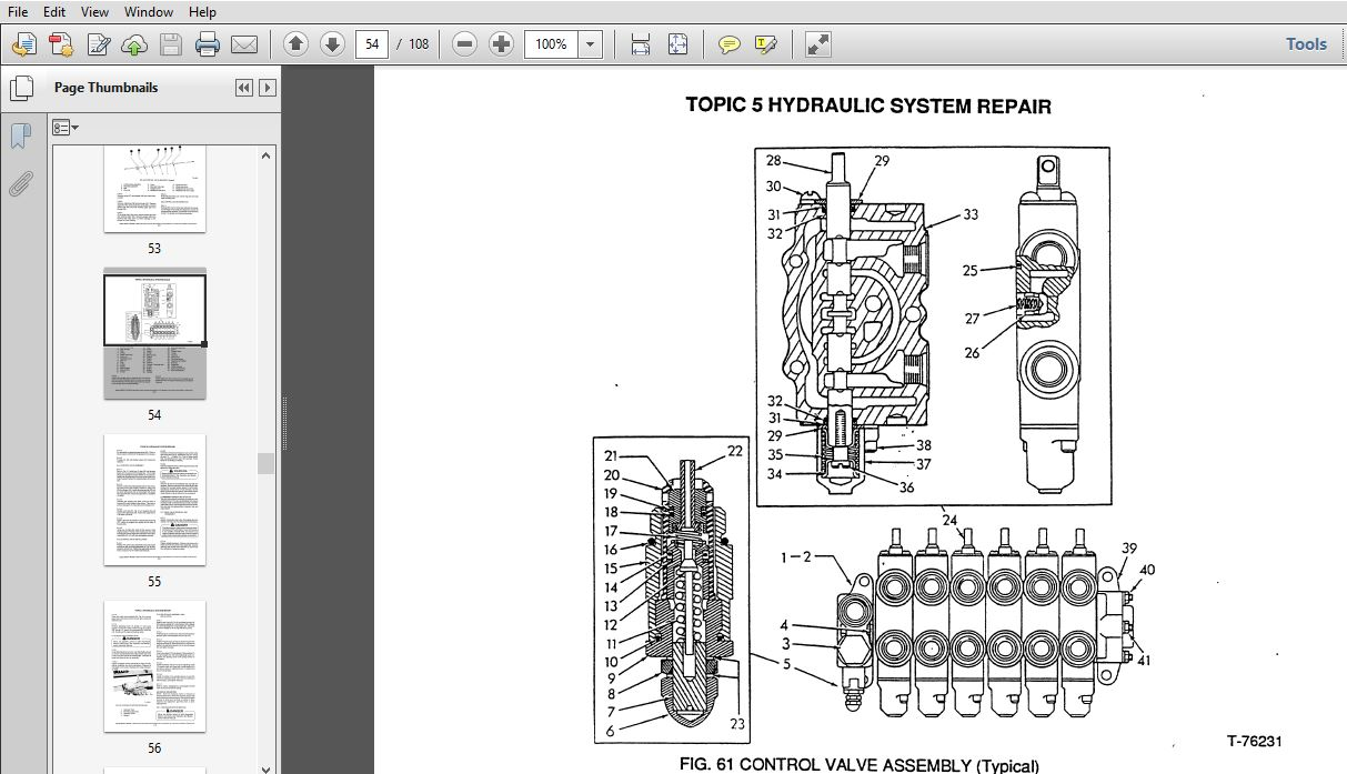 Fiat Allis 65-B Motor Grader Steering & Implement