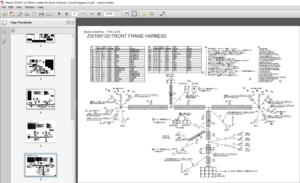 Hitachi ZW100 120 Wheel Loader Electrical Hydraulic
