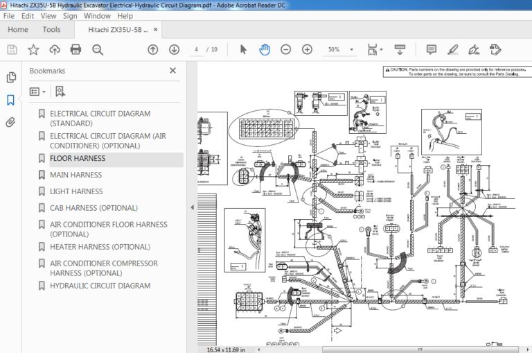 Hitachi ZX35U-5B Hydraulic Excavator Electrical-Hydraulic