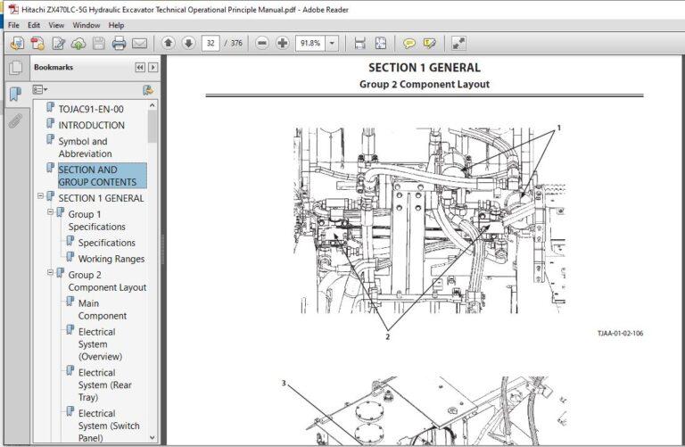 Hitachi ZX470LC-5G Hydraulic Excavator Technical