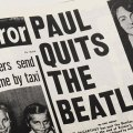 "Daily Mirror front page saying ""Paul Quits The Beatles"" from More on the breakup at Hey Dullblog"