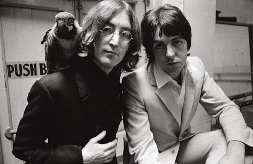 Lennon McCartney and bird