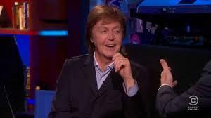 Paul McCartney on The Colbert Report, 6/12/13.