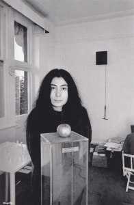 Yoko Ono and an apple, 1966.