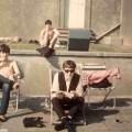 Beatles_sunning_Weston_Super_Mare