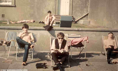 Beatles_sunning_Weston_Super_Mare
