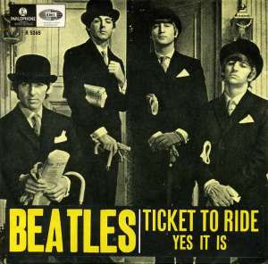ticket to ride parlophone 45