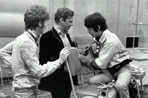 Brian Epstein, John Lennon and Paul McCartney
