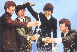 Beatles and champagne