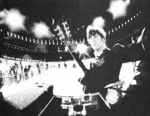 Lennon Beatles concert selfie