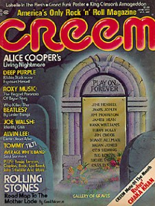 The June 1975 issue of CREEM, in which Bangs' piece appeared.