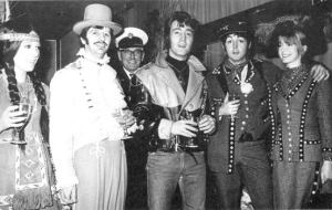 "December 21, 1967: John, Paul and Ringo at the party celebrating the BBC's transmission of ""Magical Mystery Tour."""