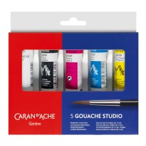 Caran D'Ache gouache tube set of 5 x 21ml
