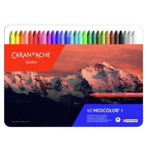 Caran D'Ache Neocolor I set of 40 pastels