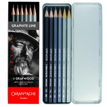 Caran D'Ache Grafwood graphite pencil set of 6