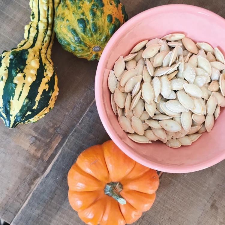 roasted pumpkin seed recipe fall bucket list