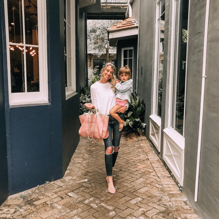 chanel deauville tote fashion travel blog wore in okaloosa island