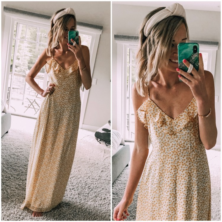 yellow maxi dress wedding guest style