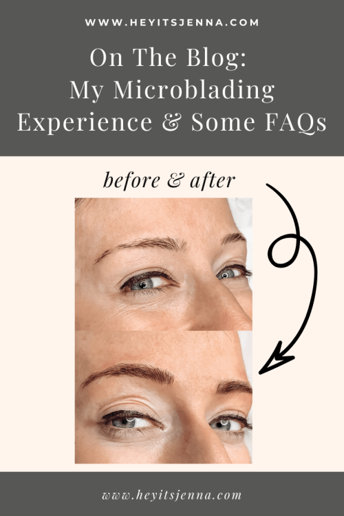 microblading process before and after
