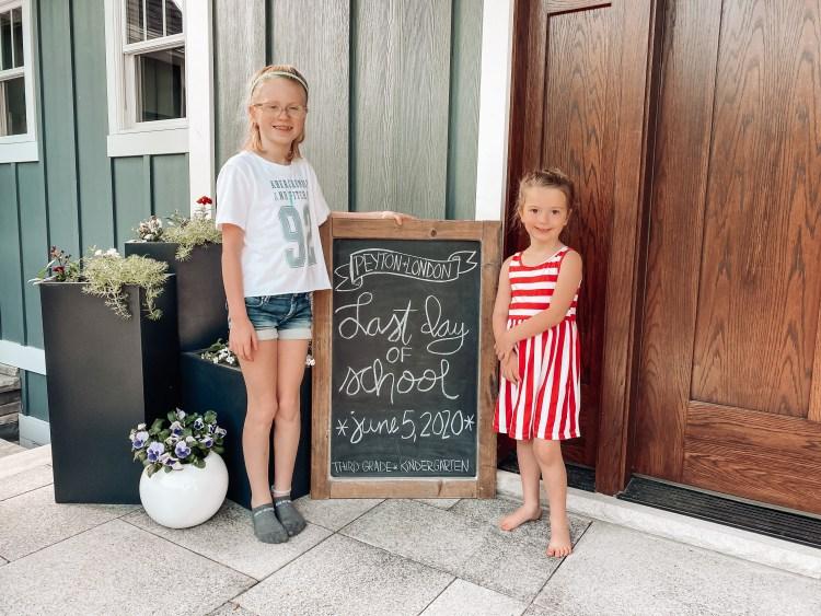 last day of school chalkboard homeschool distance learning quarantine