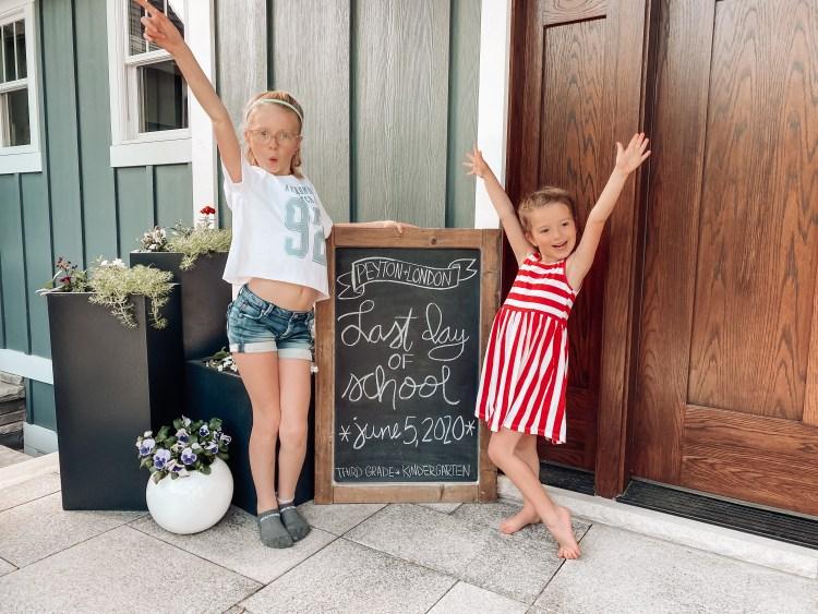 end of school chalkboard homeschool distance learning quarantine