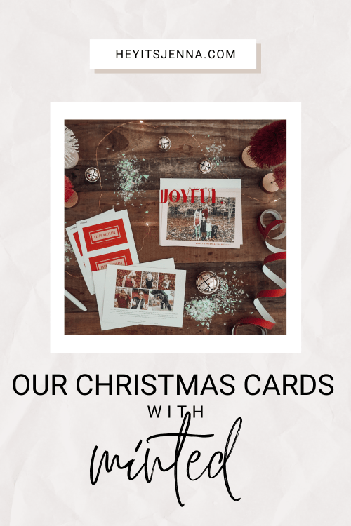 our christmas cards with minted modern trendy minimal pink card