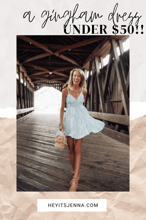 gingham dress for spring pink lily caitlin covington #pinklilystyle