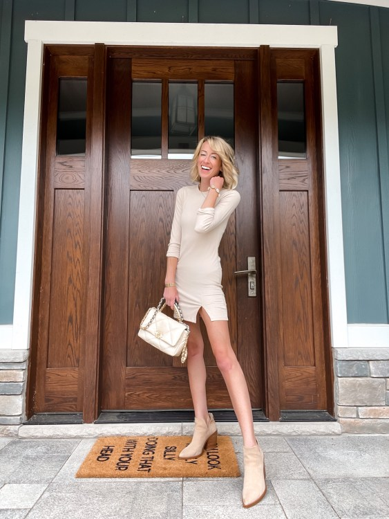 the perfect ribbed dress for the end of summer from the nordstrom sale
