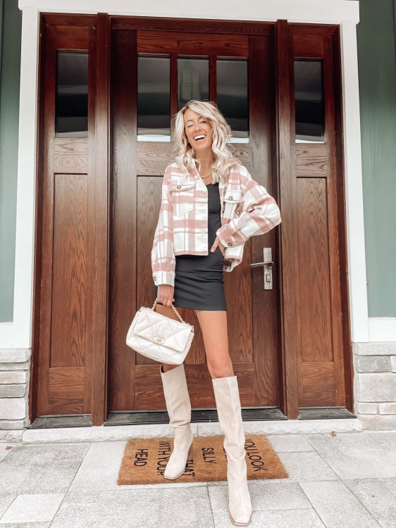 pink shacket apricot lane boutique outfits for fall