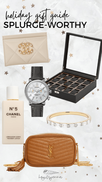 luxe gifts 2021, YSL chanel christmas gifts splurge for him