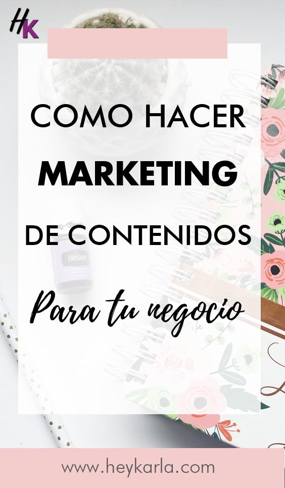 como hacer marketing de contenidos para tu negocio