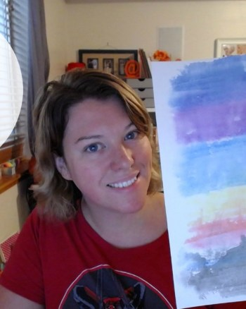 VEDA Day 15: How To Paint a Sunset in Two Minutes