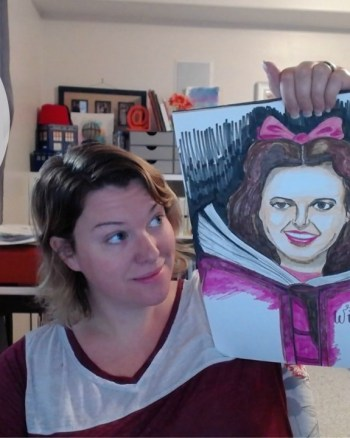 VEDA Day 20: Drawing Dorothy with Faber-Castell Pitt Pens