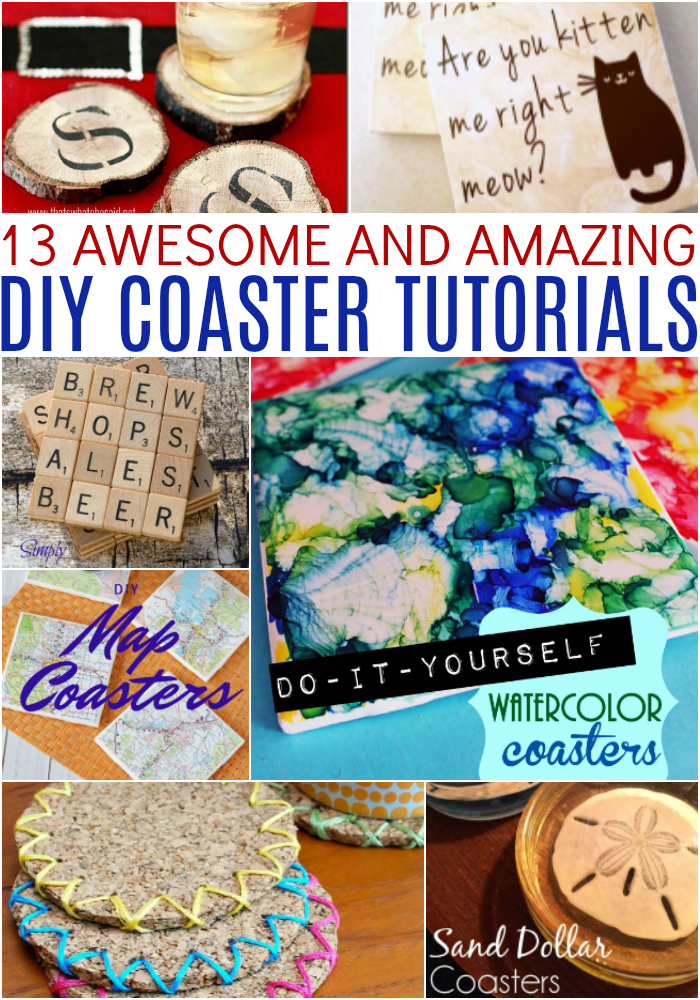 13 Awesome and Amazing DIY Coaster Tutorials