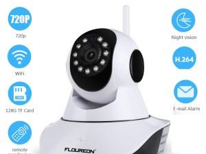 Caméra sans fil surveillance bébé - Alarme e-mail, WIFI, Vision nocturne, 720p, SD card, télécommande