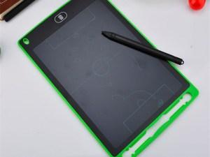 Tablette verte, écran LCD, pour écrire et dessiner