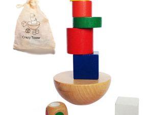 Jeu d'adresse et d'équilibre en bois - Jeu idéal pour les tous petits