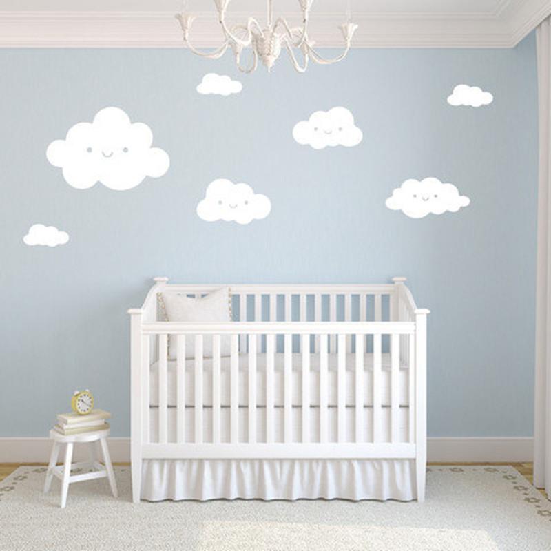 stickers muraux nuages chambre bebe sticker deco