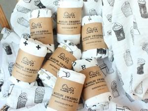 Serviette nouveau-né / nourrisson en mousseline de coton
