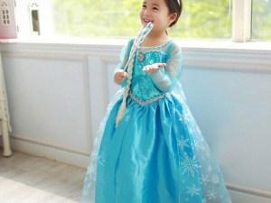 Robe déguisement enfant Elsa (de la Reine des Neiges)