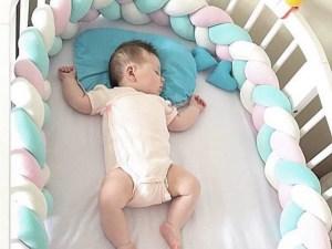 Tour de lit sécurisant - Long tour de lit en forme de tresses