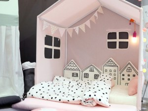 Tour de lit bébé maisons minimalistes - Décoration chambre bébé