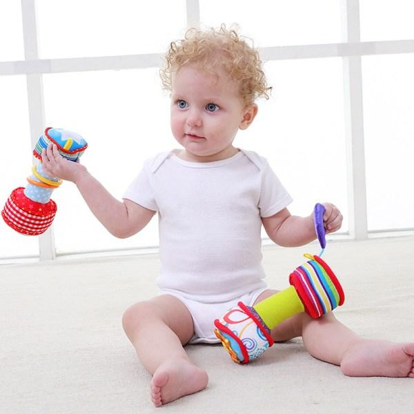 Haltères en peluche pour bébé