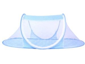 Moustiquaire bébé nourrisson - vue de profil - couleur bleu